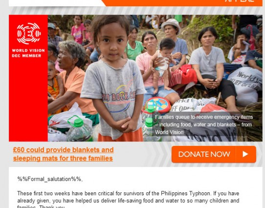 Our favourite charity emails – Autumn 2013