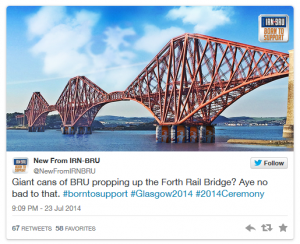 Irn Bru Forth Rail Bridge