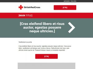 Emergency Response Fundraising - British Red Cross Email Template